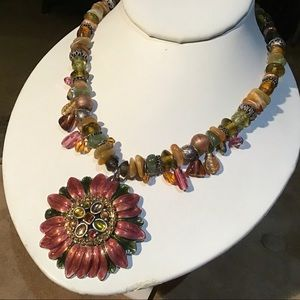 Chico's Enamel Necklace